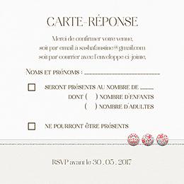 Carton réponse mariage Pureté pas cher