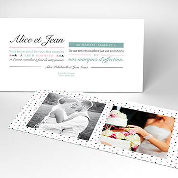 Carte de remerciement mariage Letterpress Graphic