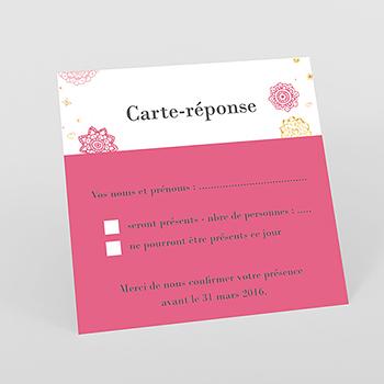 Carton réponse mariage Paillettes