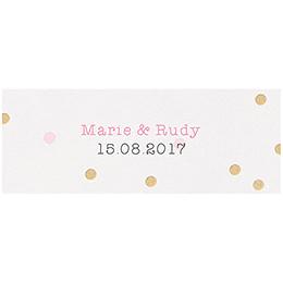Marque-place mariage La vie en rose pas cher