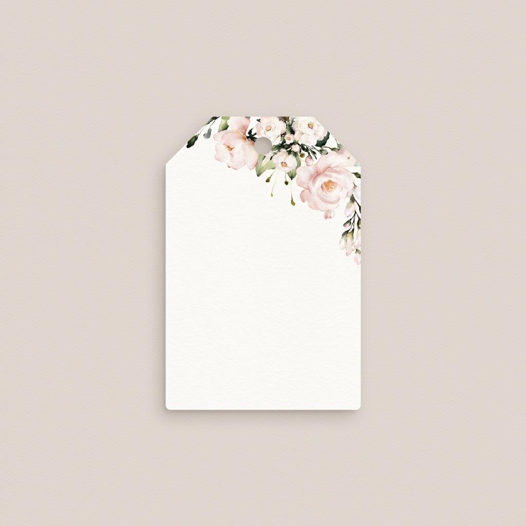 Marque-place mariage Champêtre Romantique à nouer gratuit
