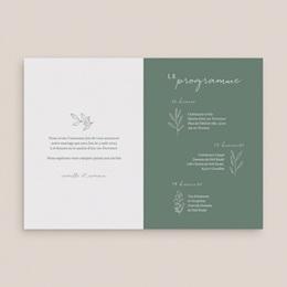 Faire-part de mariage Brin romantique, Vert doré, 12 x 17 cm pas cher
