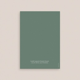 Faire-part de mariage Brin romantique, Vert doré, 12 x 17 cm gratuit
