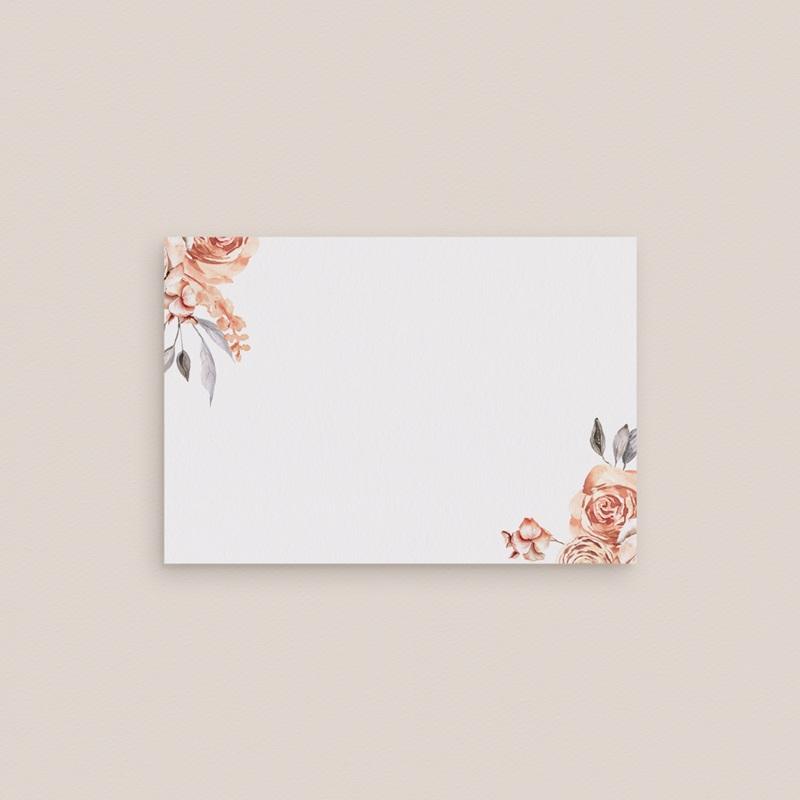 Marque-place mariage Arche de roses caramel, 7,5 x 5,2 cm