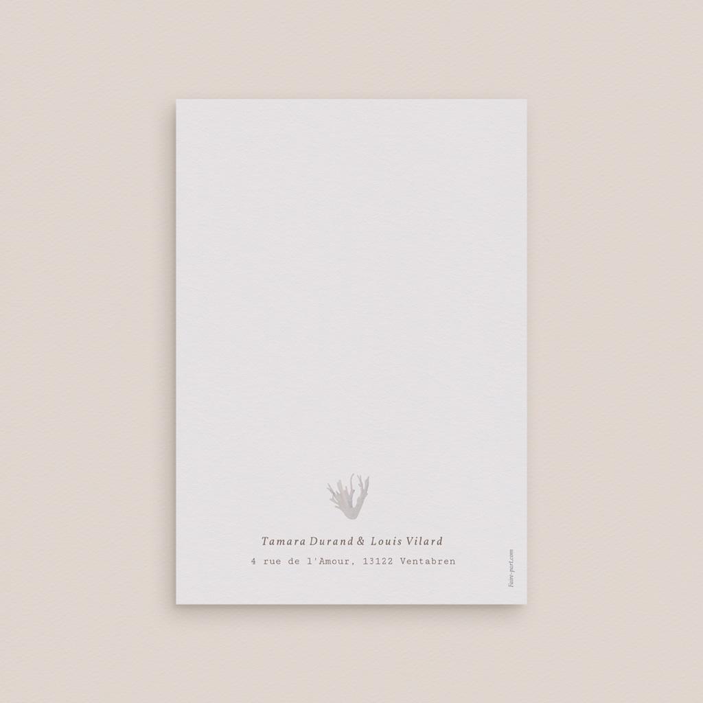 Faire-part de mariage Coquillages & coraux Aquarelle, 12 x 17 cm gratuit
