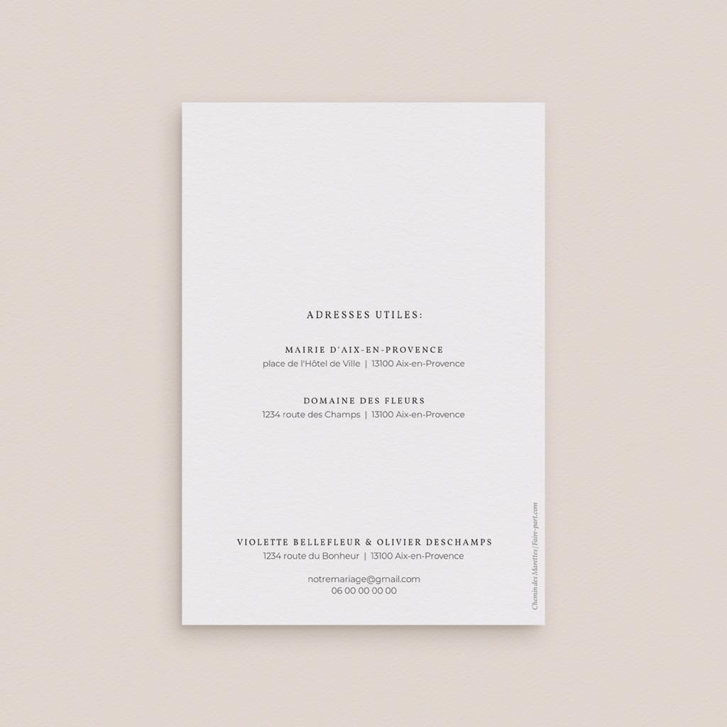 Faire-part de mariage Romance Florale, 2 volets, 12 x 17 cm gratuit