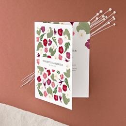 Faire-part de mariage Romance Florale, 2 volets, 12 x 17 cm