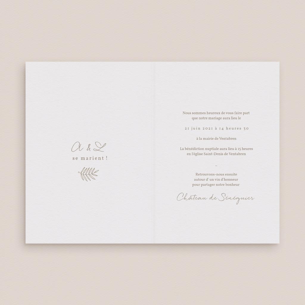 Faire-part de mariage Diadème Doré, 12 x 17 cm pas cher