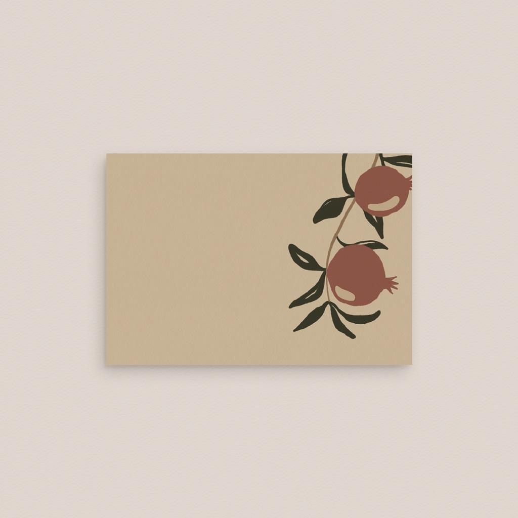 Marque-place mariage Grenades Terracotta, Chevalet 7,5 x 5,2 cm