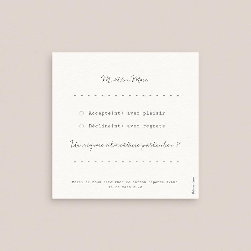 Carton réponse mariage Duo de Palmiers & Terre Cuite, Rsvp pas cher