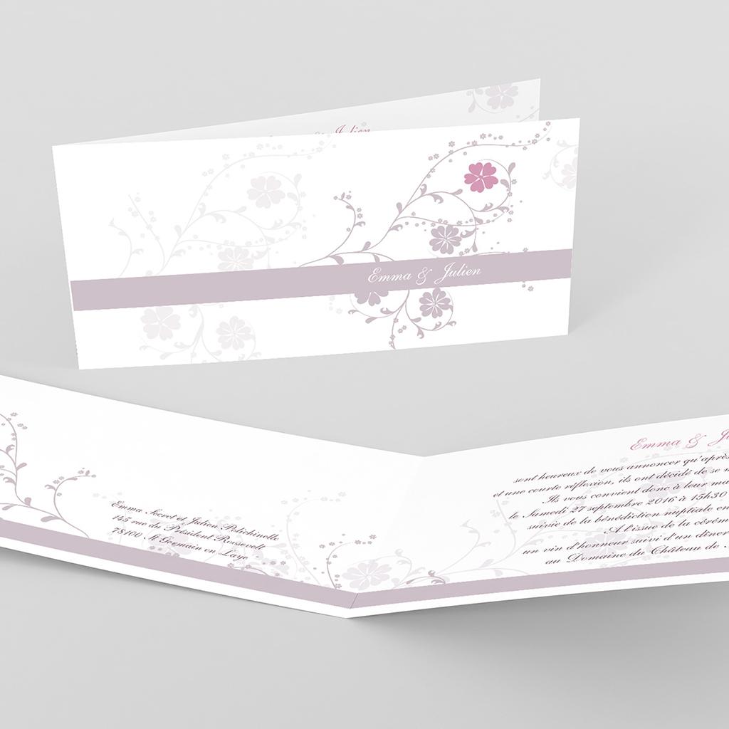 Faire-part de mariage Nuptial gris rose