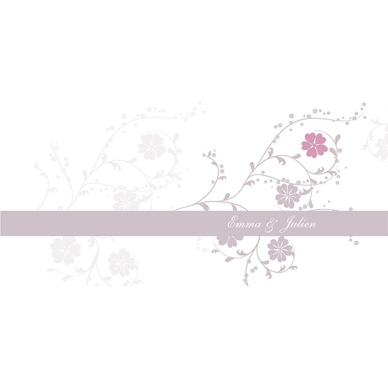 Faire-part de mariage Nuptial gris rose pas cher