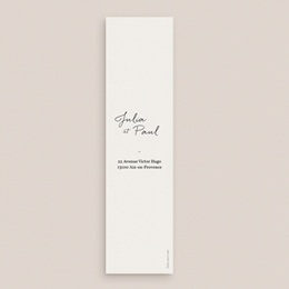 Carte de remerciement mariage Brins minimalistes, noir & blanc, 5,5 x 21 cm pas cher