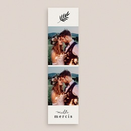Carte de remerciement mariage Brins minimalistes, noir & blanc, 5,5 x 21 cm gratuit