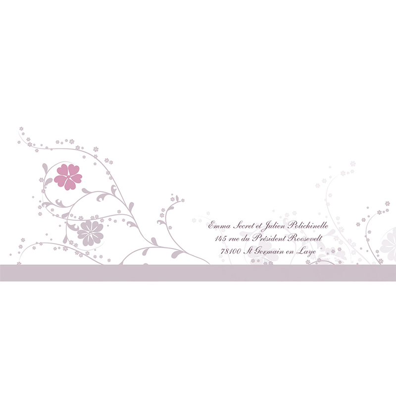 Faire-part de mariage Nuptial gris rose gratuit