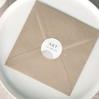 Etiquette enveloppes mariage