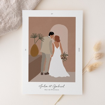 Faire-part de mariage terracotta