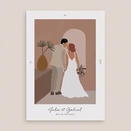 Faire-part de mariage Duo de Palmiers & Terre Cuite, 15 x 21 cm gratuit