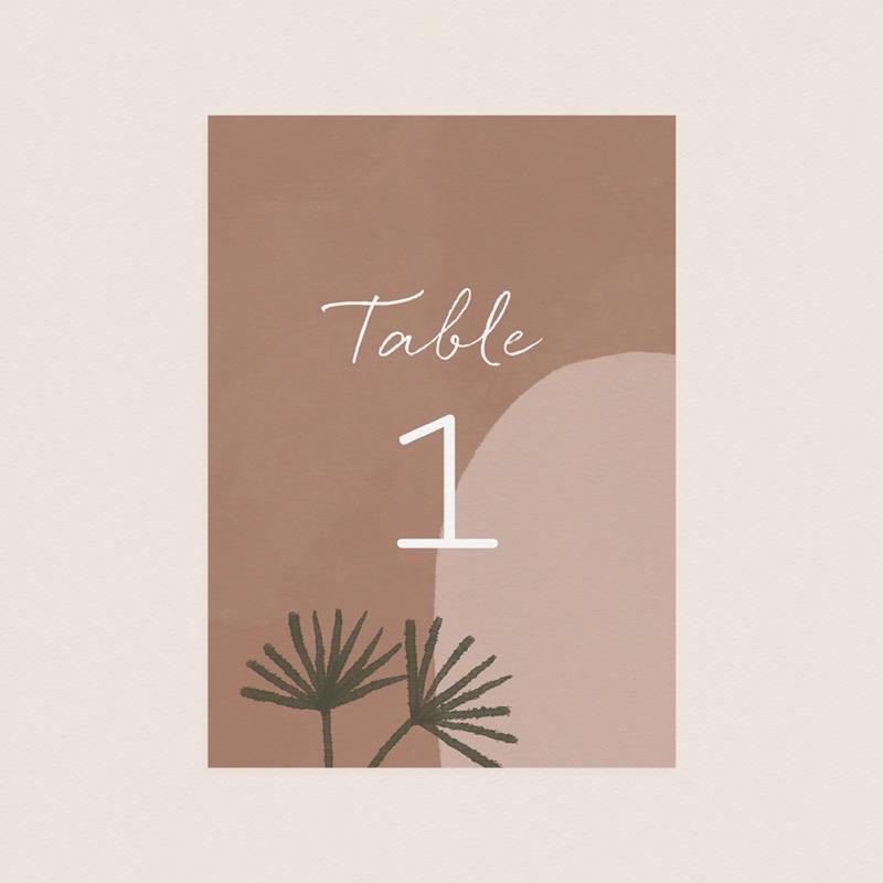 Marque table mariage Duo de Palmiers & Terre Cuite, Lot de 3 pas cher