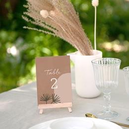 Marque table mariage Duo de Palmiers & Terre Cuite, Lot de 3 gratuit