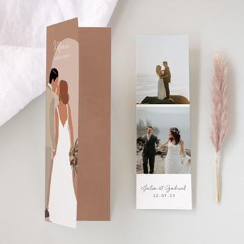 Carte de remerciement mariage terracotta