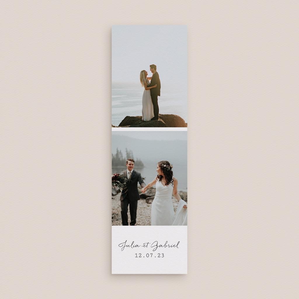 Carte de remerciement mariage Duo de Palmiers & Terre Cuite, 2 en 1 gratuit