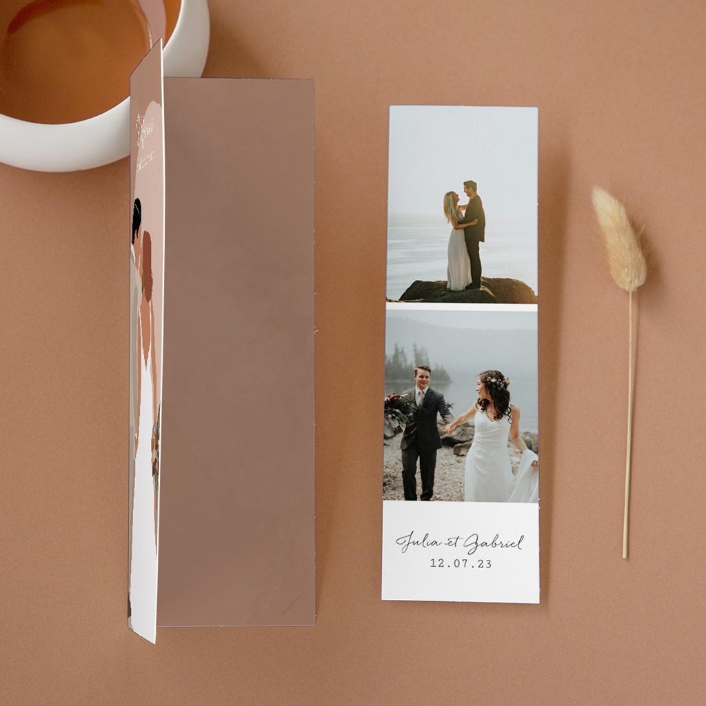 Carte de remerciement mariage Duo de Palmiers & Terre Cuite, 2 en 1