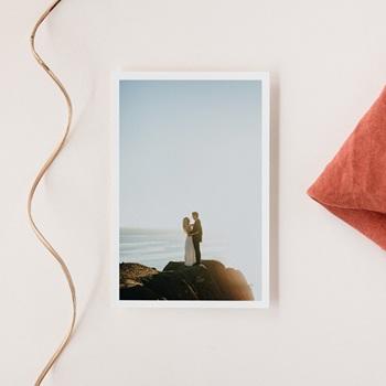 Carte de remerciement mariage chic