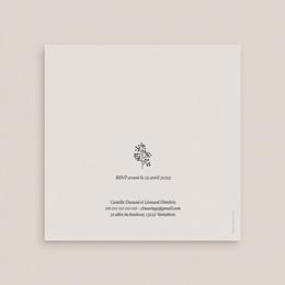 Faire-part de mariage Couronne végétale monochrome gratuit
