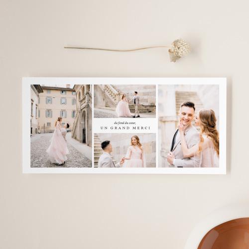 Carte remerciement mariage avec photo