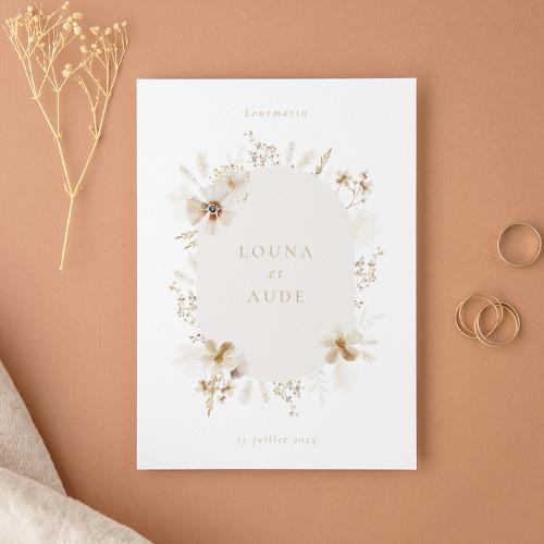 Carte de remerciement mariage champêtre